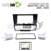 BMW 3 SERIES (E90/E93/X1) '05-'09 (C) (DOUBLE) AL-BM003 Car Stereo Installation Dash Kit