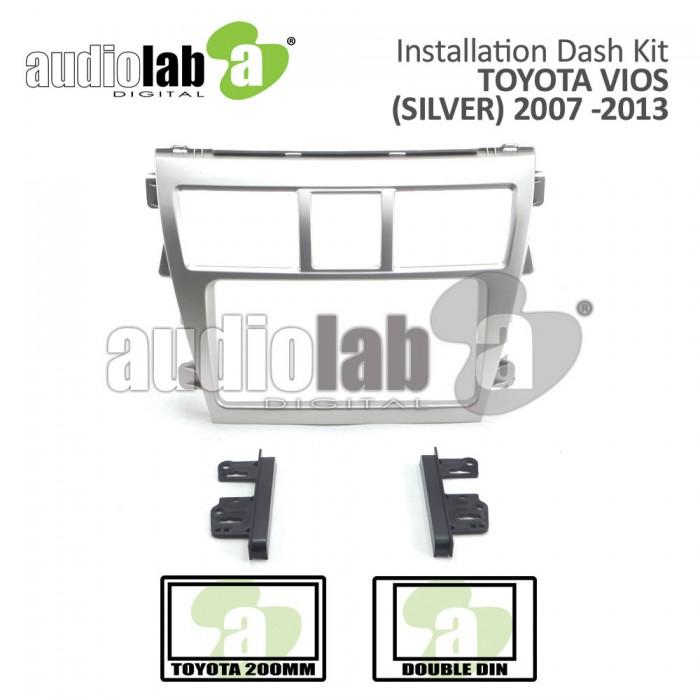 TOYOTA VIOS '07-'13- BN-25K964 (SILVER) Car Stereo Installation Dash Kit